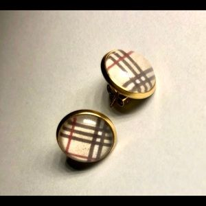 Gold and plaid earrings